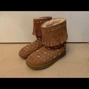 JIMMY CHOO & UGG Shearling Embellished Boots